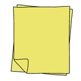 Notebook Paper drawing Stock Photography