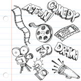 Notebook Paper Entertainment Doodles Stock Photos