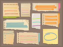 Notebook paper & highlight elements Stock Photos