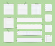 Notebook paper illustration Stock Photos