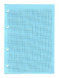 Notebook paper isolated Royalty Free Stock Images