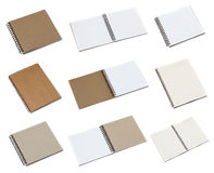 Notebook paper isolated on white background Royalty Free Stock Images