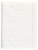 Notebook Paper Stock Photos