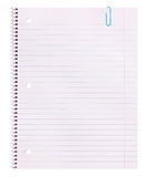 Notebook Paper . Lined Blank royalty free stock image