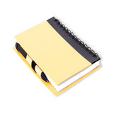 Notebook and paper pen on white Royalty Free Stock Image