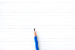Notebook paper with pencil Royalty Free Stock Photography
