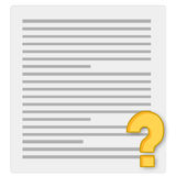 Notebook paper and questionnaire Stock Images