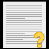 Notebook paper and questionnaire Stock Photography