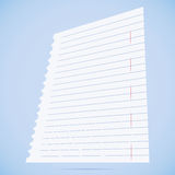 Notebook paper sheet. Royalty Free Stock Photos