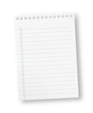 Notebook paper sheet Stock Image