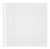 Notebook Paper Vector Illustration Royalty Free Stock Images