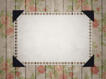 Notebook paper on vintage background. Stock Image