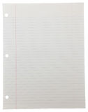 Notebook Paper on White Royalty Free Stock Photos