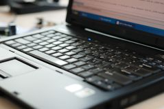 Notebook PC keyboard. It is a keyboard of notebook computer Stock Photography