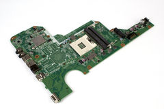 Notebook pc motherboard on white Royalty Free Stock Photos
