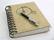 Notebook and Pen stock images