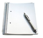 Notebook and pen. Isolated on white background Royalty Free Stock Photo