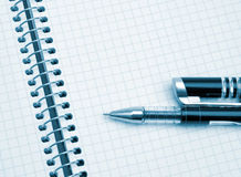 The notebook and pen Royalty Free Stock Photography