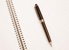 The notebook and pen Stock Photography