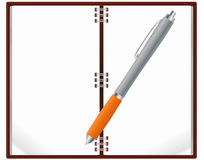 Notebook pen Stock Images