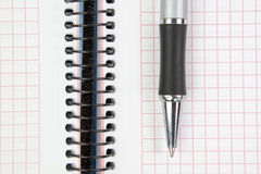 Notebook and pen. Stock Images
