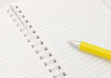 Notebook with pen Stock Photo