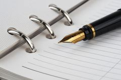 Notebook and pen Royalty Free Stock Photo