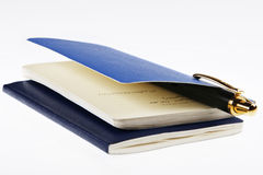 Notebook & pen Stock Photography