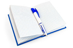 Notebook and pen blue Royalty Free Stock Image