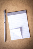 Notebook and pen Stock Photography
