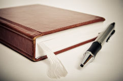 Notebook and pen Royalty Free Stock Photography