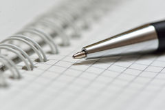 Notebook with pen Royalty Free Stock Photography