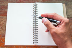 Notebook and pen. Stock Image