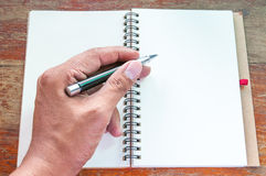 Notebook and pen. Stock Photography
