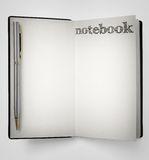 Notebook with pen Stock Photography