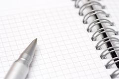 Notebook and pen Royalty Free Stock Image