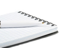 Notebook with pen closeup Royalty Free Stock Photography