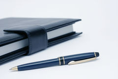 Notebook and Pen Detail Royalty Free Stock Photography