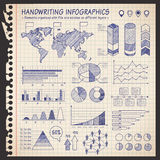 Notebook pen drawn infographics Stock Image