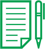 Notebook and pen icon -  illustration Royalty Free Stock Images