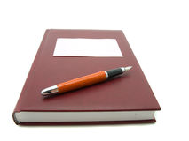 Notebook and pen isolated Stock Photos
