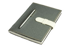 Notebook with pen. The notebook it kept all the plan and the memory Royalty Free Stock Image