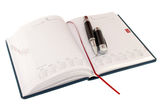 Notebook. And pen - a necessary thing a business person Royalty Free Stock Photo