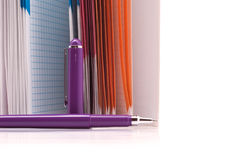 Notebook and pen for notes Stock Photos