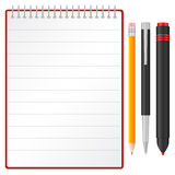 Notebook pen pencil and marker Royalty Free Stock Photos