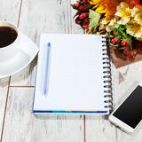 Notebook with pen for planning Royalty Free Stock Photography