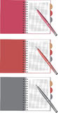 Notebook and pen set. Stock Image