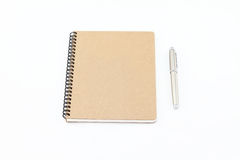 Notebook and pen. Notebook and Silver fountain pen Stock Images