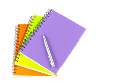 Notebook and pen on white background Royalty Free Stock Image