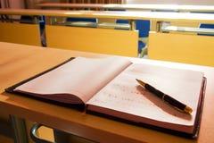 Notebook and pen Stock Photos